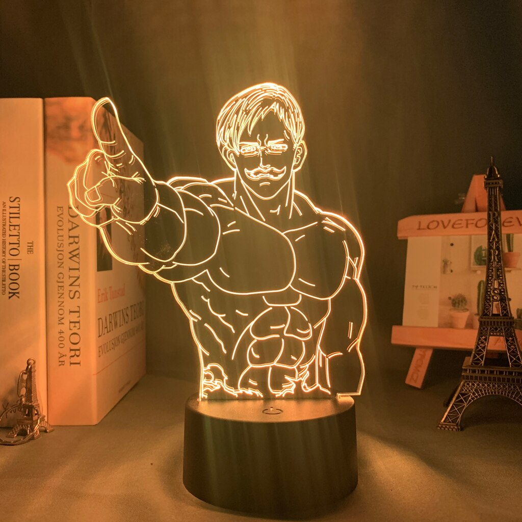 escanor muscles seven dealy sins lampe