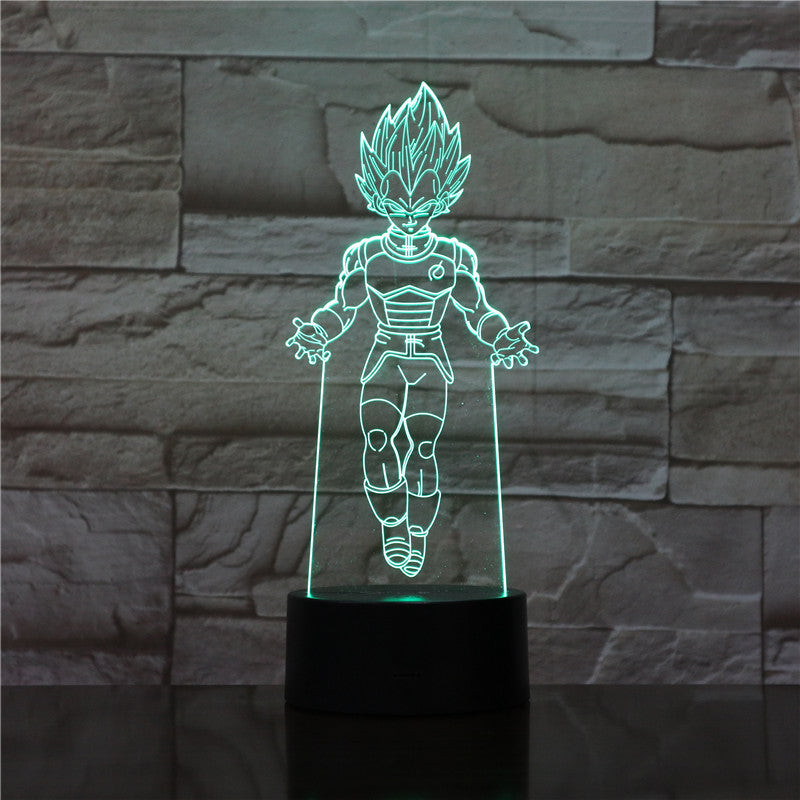 Lampe 3D - Vegeta Dragon Ball Super