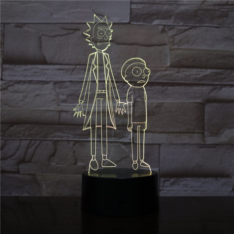 rick et morty lampe serie tv netflix