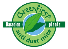 Greenfirst logo with anti dust mite medium
