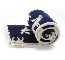 Shannon & Scott Blue Moose Throw Blanket