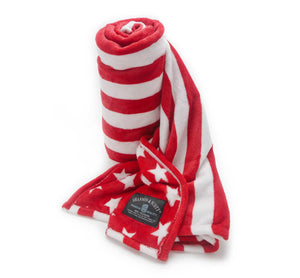 Shannon & Scott Red Stars and Stripes Throw Blanket