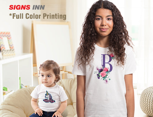 12 YOUTH T-SHIRTS Full Color Imprint