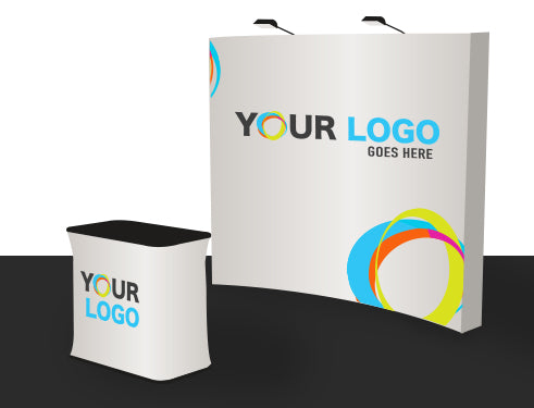 10 Ft Curve Velcro Fabric Pop Up Display