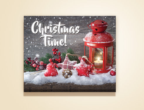 "20"" x 16"" Christmas time canvas"