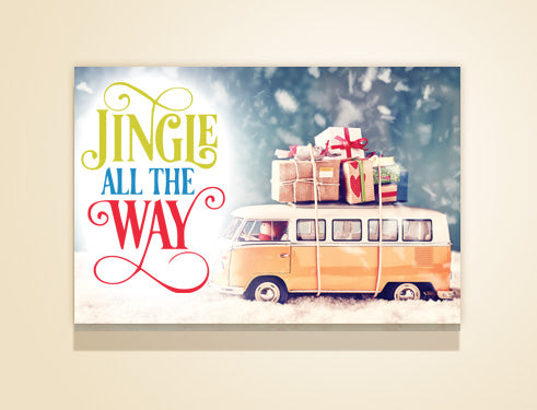 "36"" x 24"" Jingle all the Way canvas"