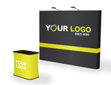 10 Ft Straight Velcro Fabric Pop Up Display