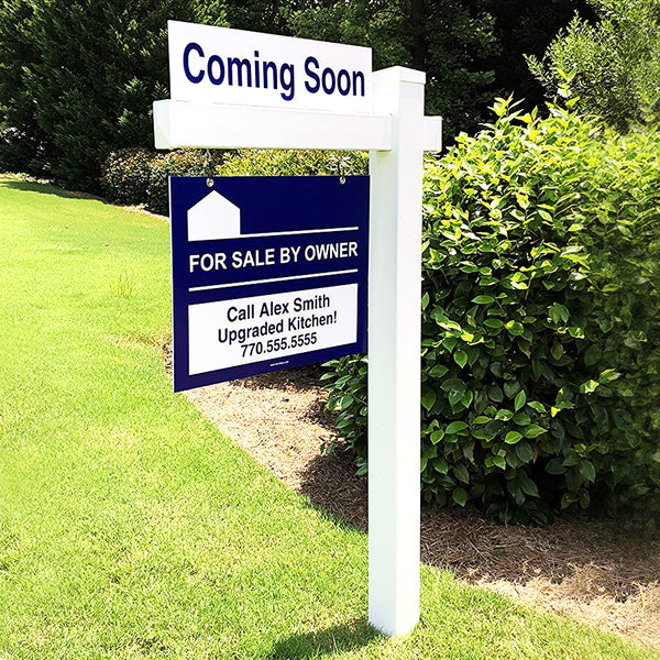 "REAL ESTATE SMALL POST - Holds 24"" sign"
