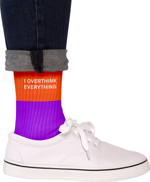Overthink Everything Socks