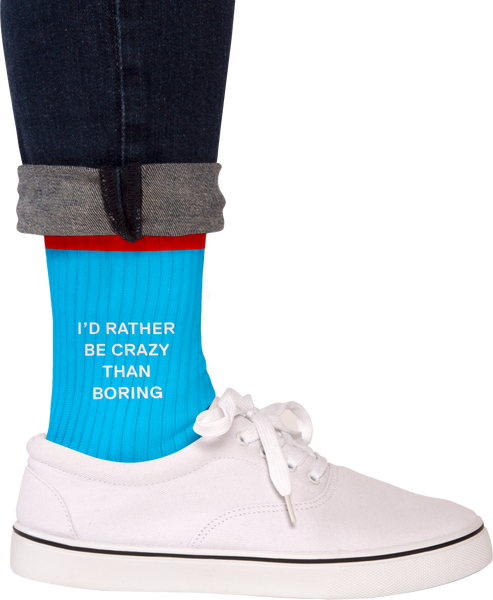 Crazy > Boring Socks