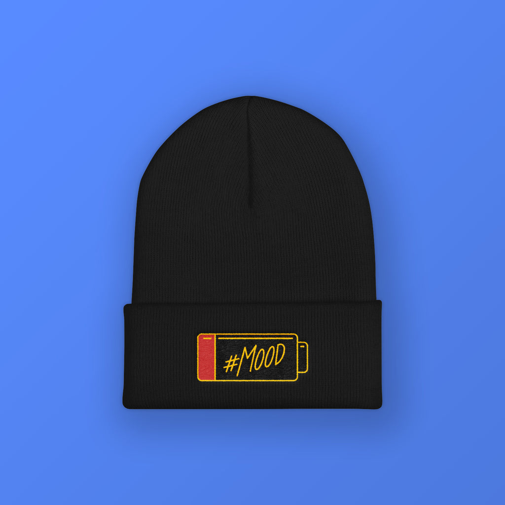 Mood Battery Cuffed Beanie