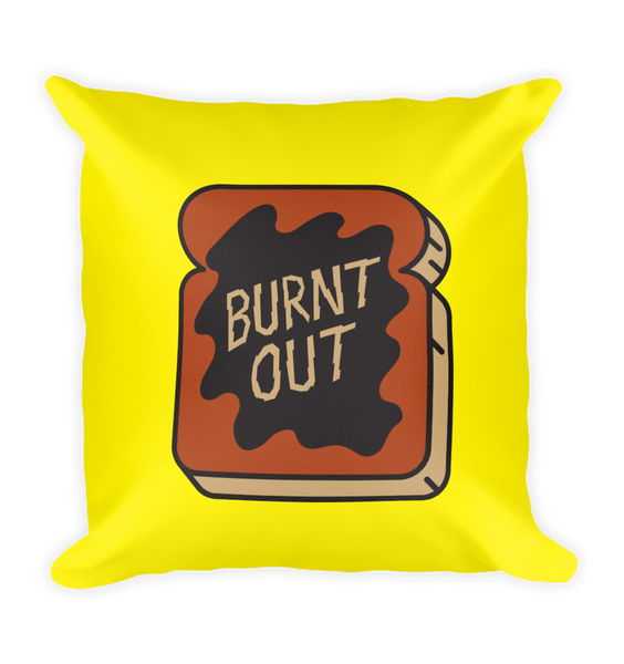 Burnt Out Square Pillow