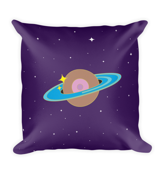 Space Boob Square Pillow