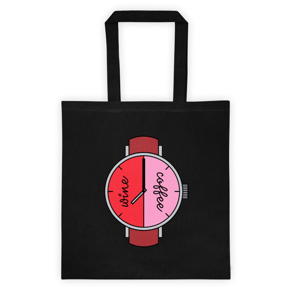 Wine Coffee Clock Tote