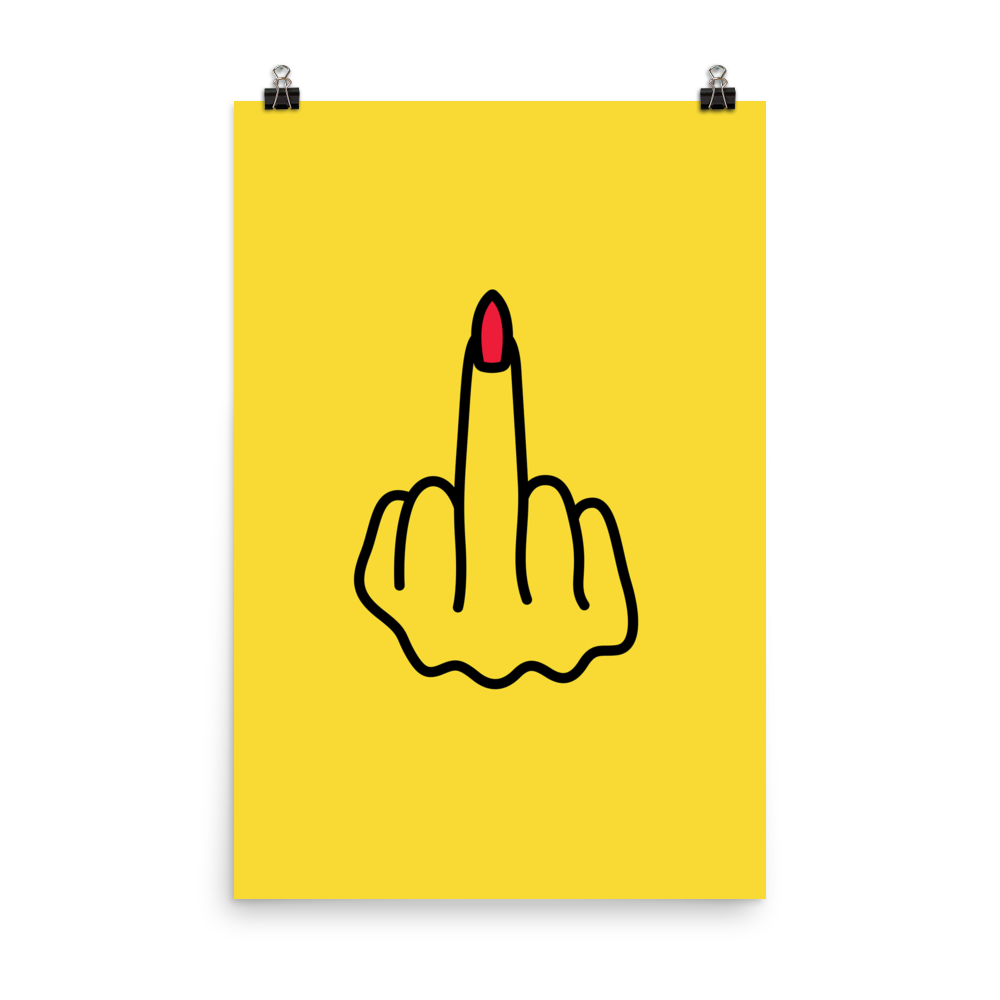 Middle Finger Poster