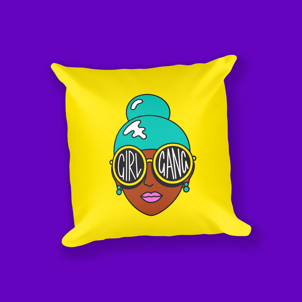 Girl Gang Square Pillow