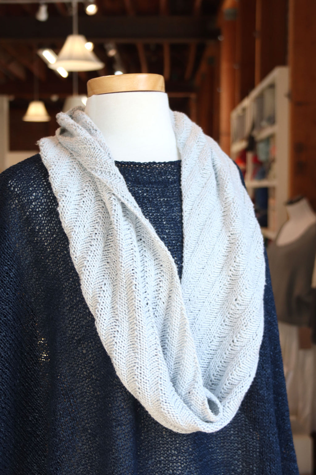 Diagonally Striped Cowl No. 1