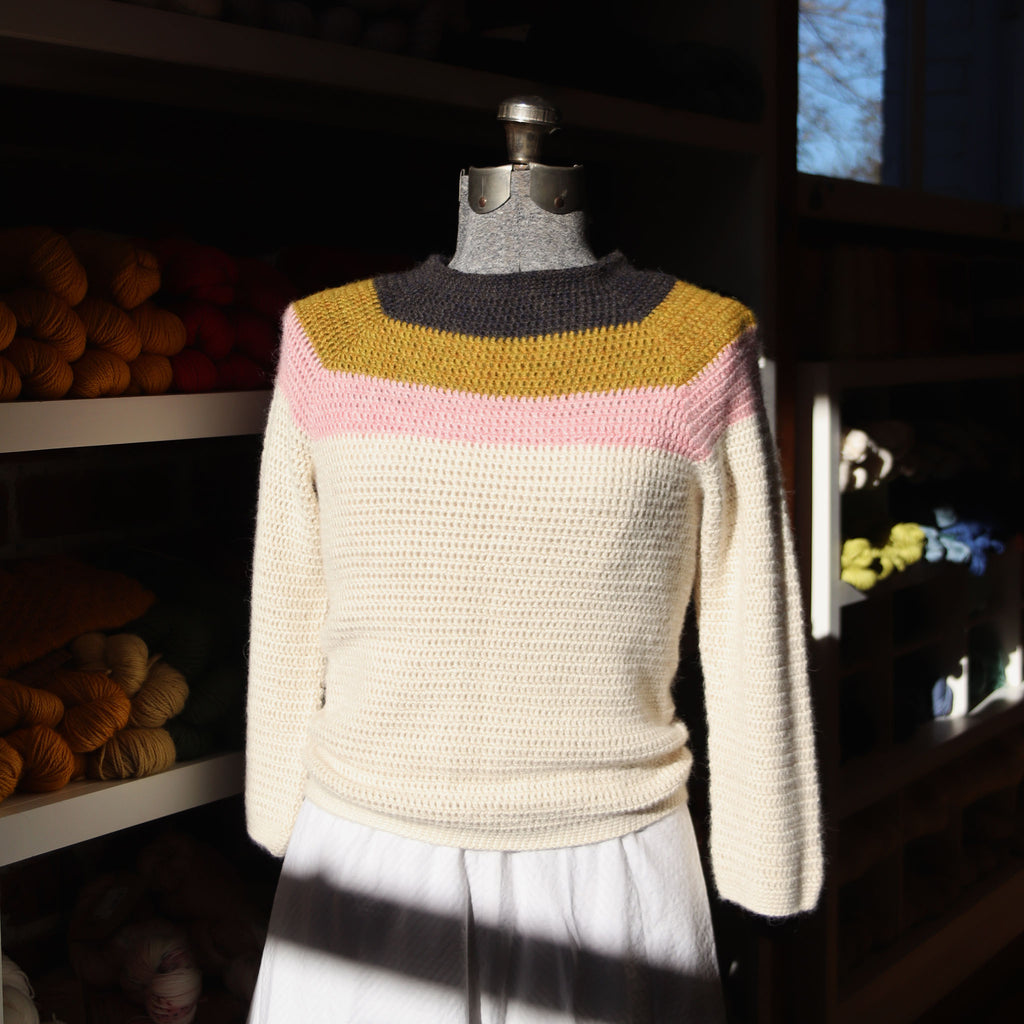 Top Down Crochet Pullover