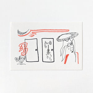 "Mac Mercutio Handmade Postcard ""Doors"""