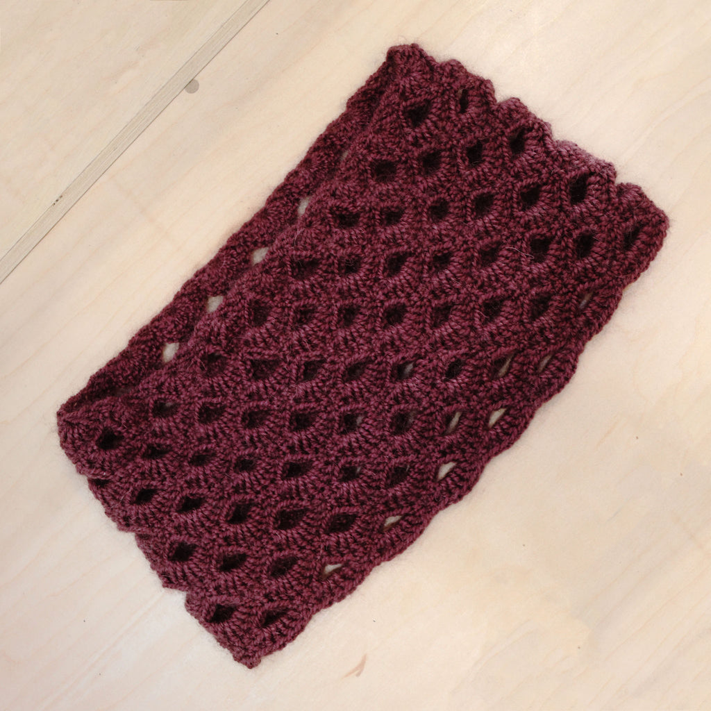 Scalloped Eyelets Cowl