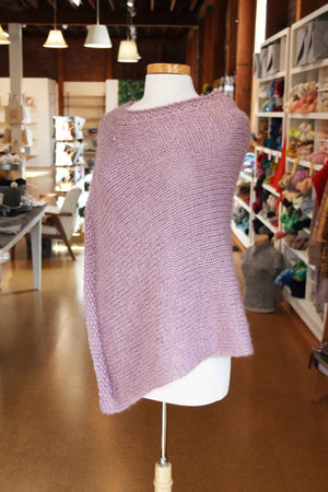 Classic Poncho with Seed Stitch Edge