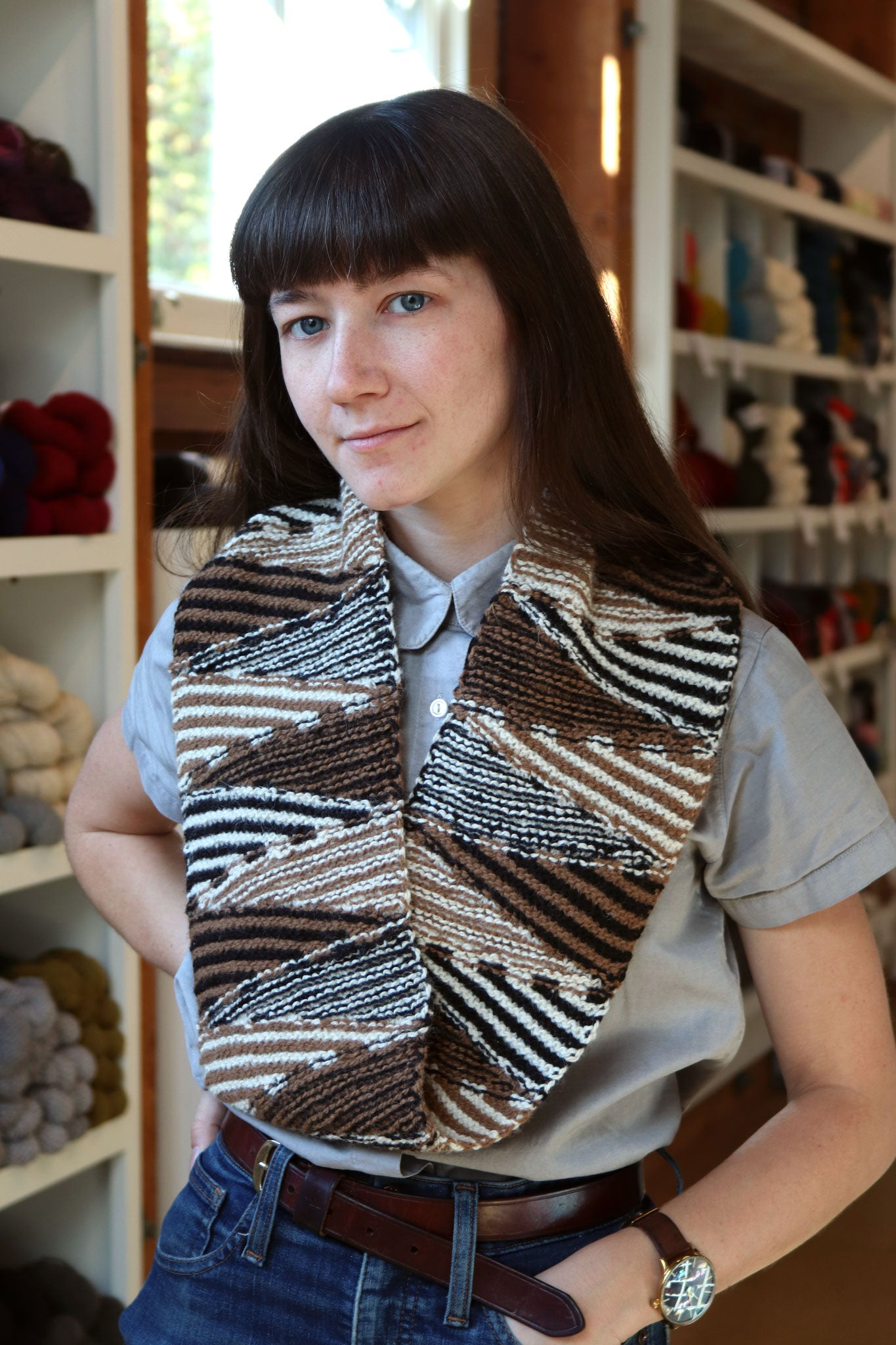 Striped Angles Cowl