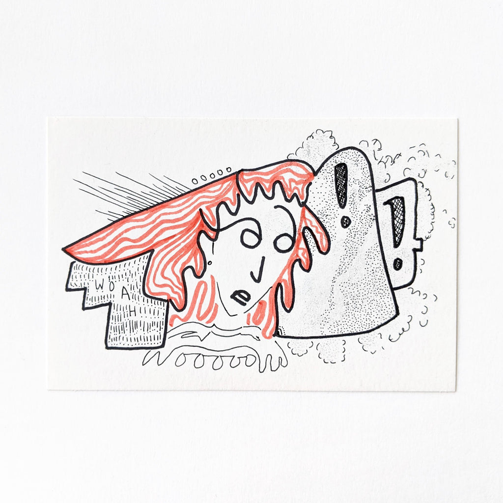 "Mac Mercutio Handmade Postcard ""Woah"""