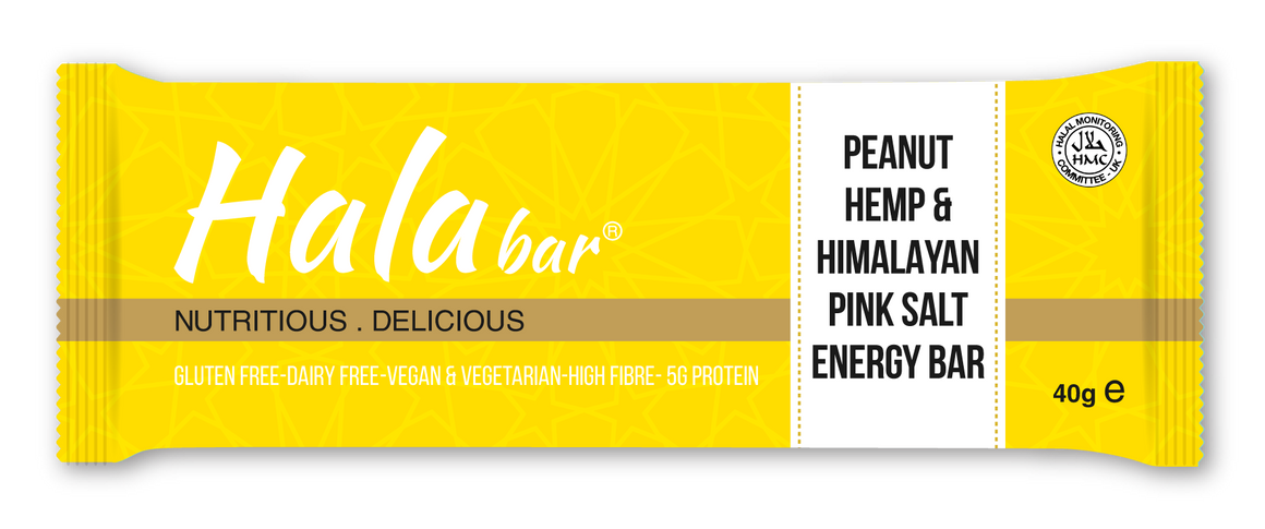 24x40g Peanut, Hemp & Himalayan Salt Energy Bar - Hala Bar