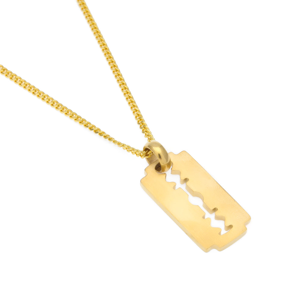 Razor blade necklace w275 cuban link chain litgems razor blade necklace w275 cuban link chain thecheapjerseys Choice Image