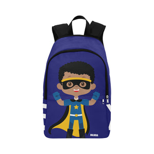 Superhero Blue Backpack