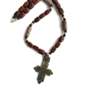 Ethiopian Cross & Indian Bloodstone
