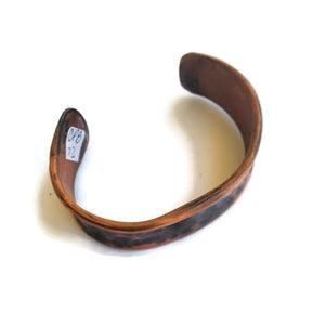 Patinaed Copper Cuff Bracelet