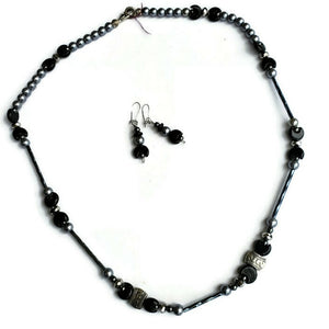 Moon Bead Necklace & Earring Set