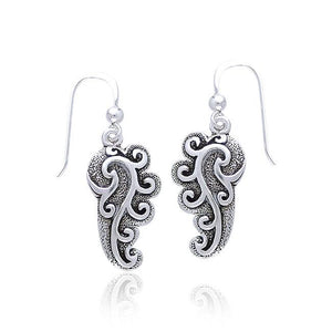 Empowering Spiral Silver Earrings by Peter Stone