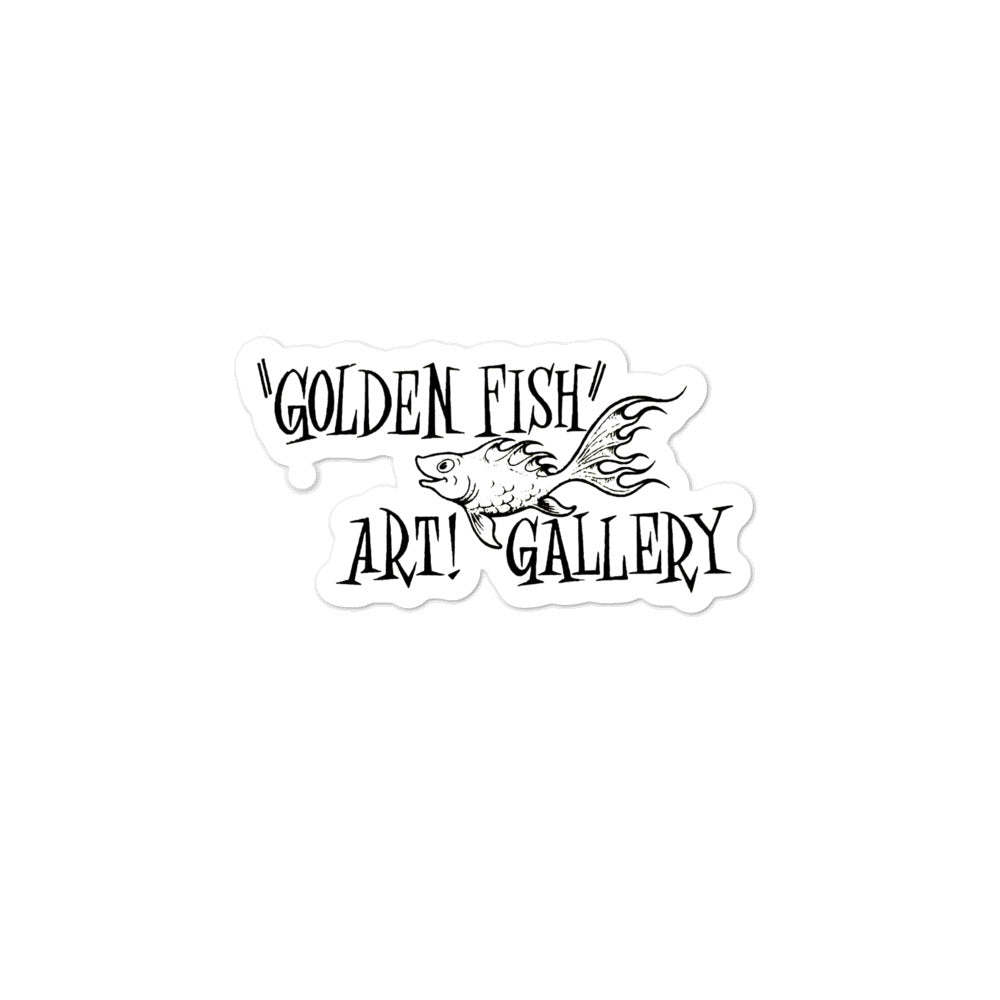 Golden Fish Art Gallery Bubble-free stickers