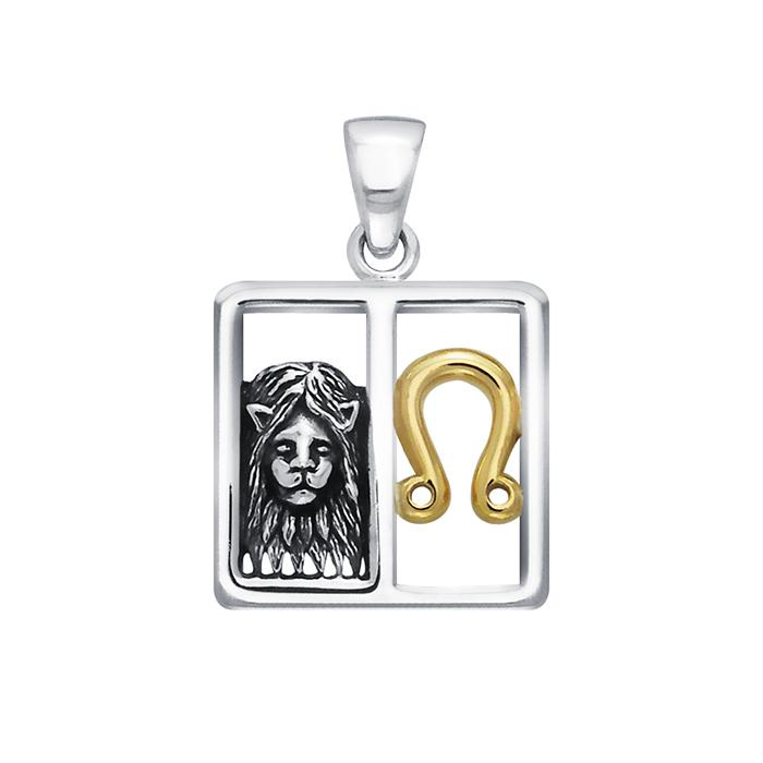 Sterling Silver Leo Zodiac Pendant by Peter Stone