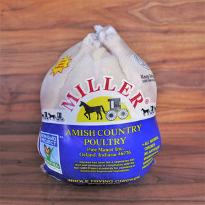 Miller Whole Amish Chicken 3.5-4 lb Avg