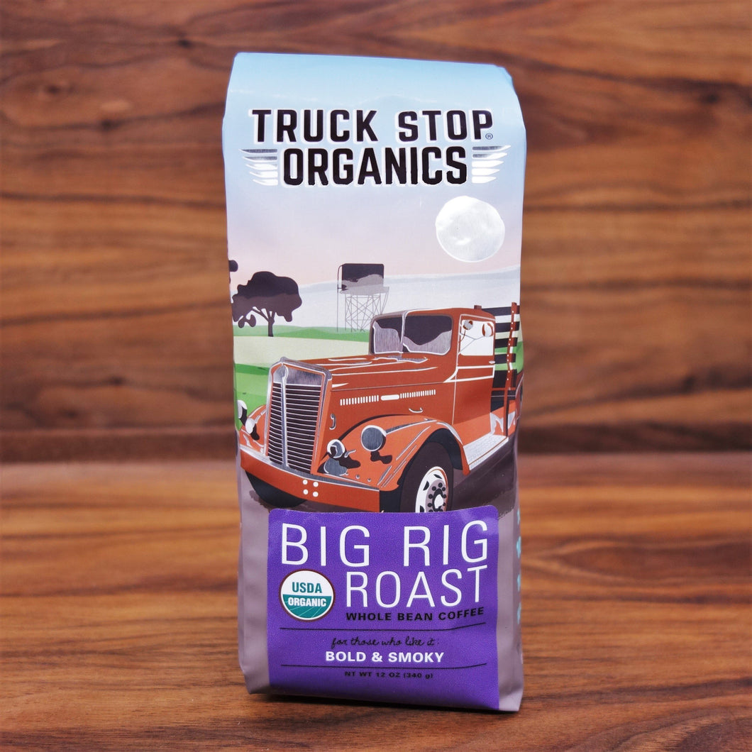 Truck Stop Coffee Big Rig Dk Roast Whole Bean Organic