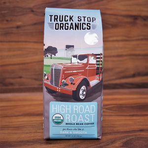 Truck Stop Coffee High Road Med Roast Whole Bean Organic