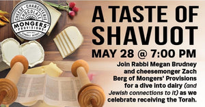 TBE's Tasting - Shavuot: Dairy Deep Dive - Shipping Included
