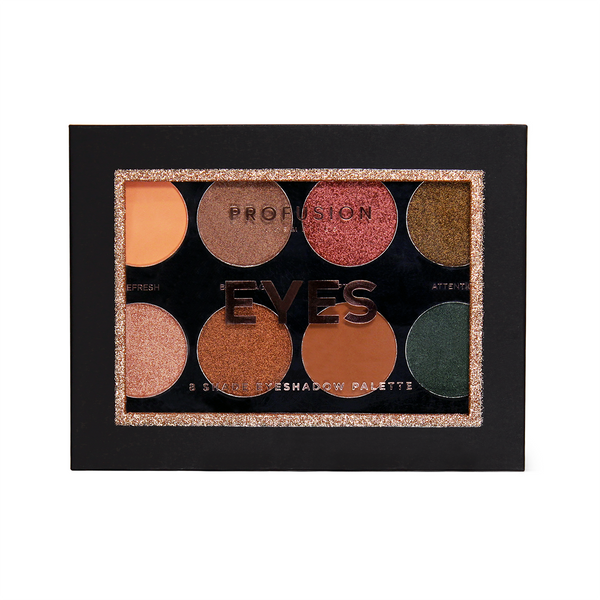 8 shade Eyeshadow Palette in an array of versatile and multi-finish shades for any desired look.