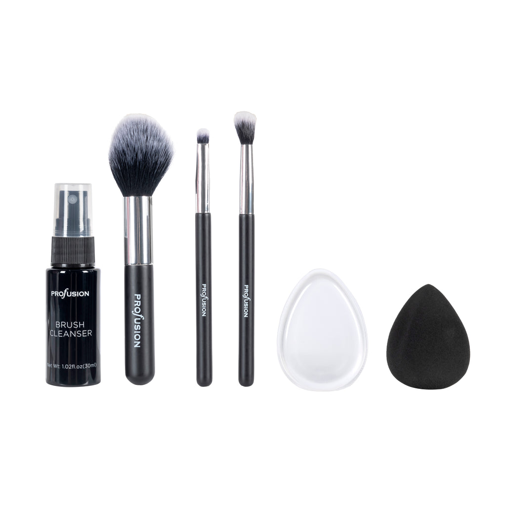 White Crystals Brush and Cleanser Set