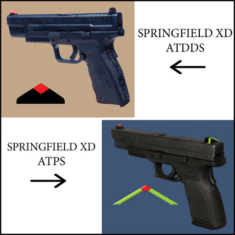 ATDDS & ATPS – SPRINGFIELD XD - (ALL MODELS EXCEPT 5.25 & ADJUSTABLE SIGHT MODELS:  (professional installation recommended)