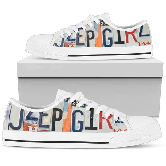 JeepGirl License Plate Tennis Shoe -Wildish