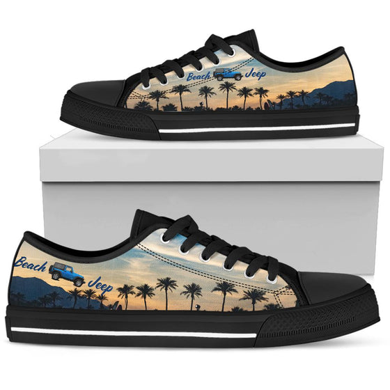 Beach Jeep Black Tennis Shoe - Sunset