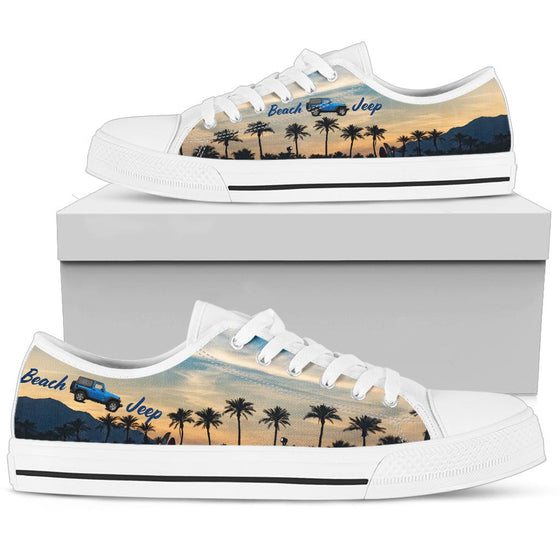 Beach Jeep Tennis Shoe - Beach Sunset