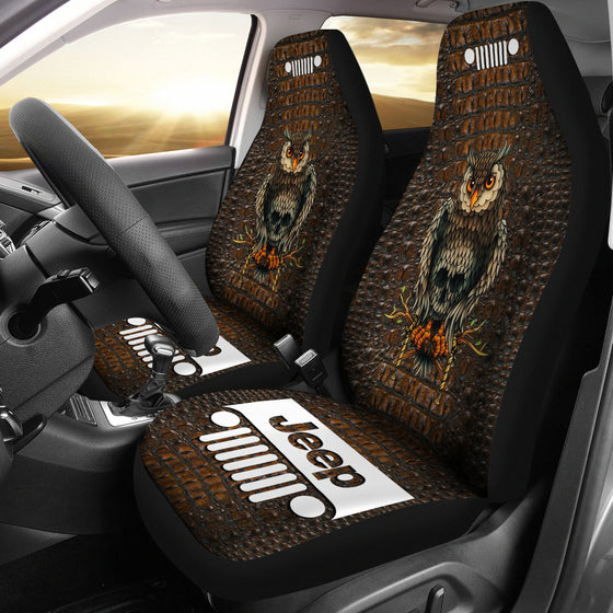Jeep Seat Cover - Alligator Brown - OwlSkull
