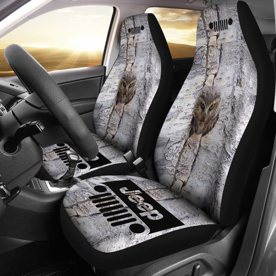 Jeep Seat Cover - Owl at Home