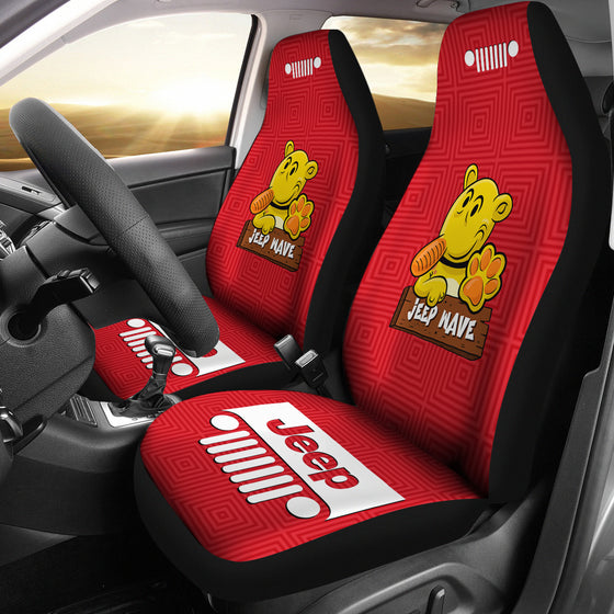 Jeep Grill Seat Covers-Eugene The Jeep-Red