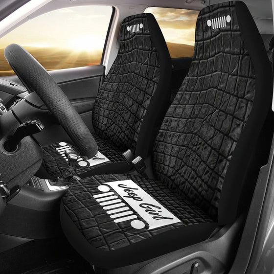 JeepGirl Seat Cover - Alligator Black